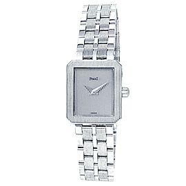 Piaget Protocole 18k White Gold Quartz Silver Ladies Watch 5354 M601D
