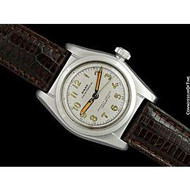 1946 Rolex Vintage Mens WWII Era SS Steel Bubbleback Ref. 2940 Watch - Warranty