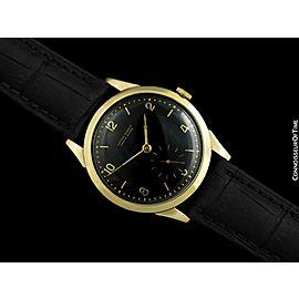 1950's ULYSSE NARDIN Vintage Mens 14K Gold Dress Watch - Mint with Warranty