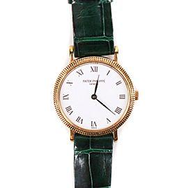Patek Phillipe - 18k Gold Watch - Green & Black Bands - Round Face 23 mm Ladies