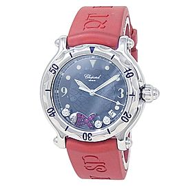 Chopard Happy Sport Stainless Steel Rubber Quartz Blue Watch
