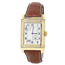 Jaeger-LeCoultre Reverso Grande Date 18k Yellow Gold Silver Men's Watch