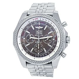 Breitling Bentley 6.75 18k White Gold Automatic Grey Men's Watch