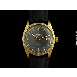 1953 ROLEX Vintage Mens Oysterdate Gold Plated Watch - Mint with Warranty