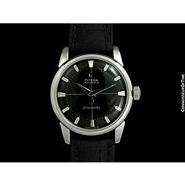 1960 OMEGA SEAMASTER Vintage Mens SS Steel Calatrava Watch - Mint with Warranty