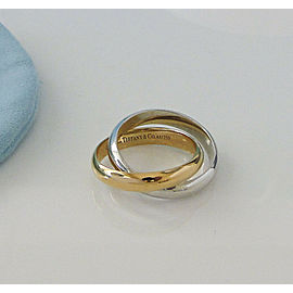 Tiffany & Co Picasso Calife 2 Band Ring Sz 7 18K Rose & White Gold - RETIRED-NEW