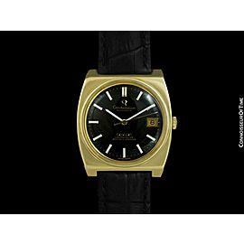 c. 1970 OMEGA CONSTELLATION Mens Large Automatic Chronometer - 14K Gold Cap & SS