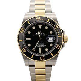Men's Rolex Submariner Date, 41mm, Steel, 18k Yellow Gold, Black Dial, 126613LN