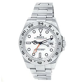 Rolex Explorer II Stainless Steel Oyster Automatic White Men's Watch 216570
