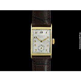 1960's PATEK PHILIPPE Vintage Mens 18K Gold Breguet Dial Watch - COA & Warranty