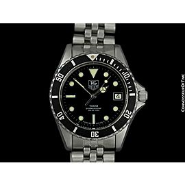 TAG HEUER PROFESSIONAL 1000 Mens Submariner Diver Stainless Steel Watch - Mint