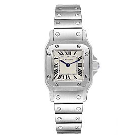 Cartier Santos Galbee Silver Dial Small Steel Ladies Watch W20056D6