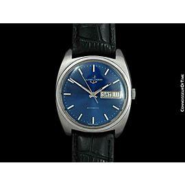 1960's Ulysse Nardin Vintage Mens Full Size SS Steel Watch - Mint with Warranty