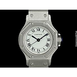 Cartier Santos Octagon Ladies Automatic Watch Stainless Steel - Mint - Warranty