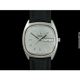 """1976 OMEGA Rare Vintage Mens 1310 """"Megaquartz"""" SS Steel Watch - Mint w/ Warranty"""