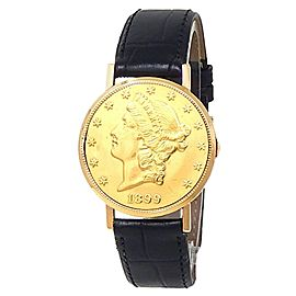 Jaeger-LeCoultre Vintage 20 Dollars Gold Coin 18k Yellow Gold Silver Men's Watch