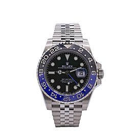 Men's Rolex GMT-Master II Batman, 40mm Stainless Steel, Black dial, 126710BLNR