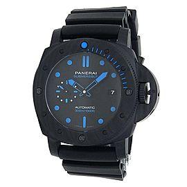 Panerai Luminor Submersible Black Carbontech Rubber Black Men's Watch PAM01616