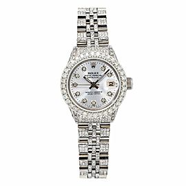 Rolex Oyster Perpetual Lady DateJust 26MM Silver Diamond Dial With 2.75 CT Diamo
