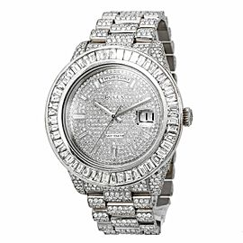 Rolex Day-Date II 218239 41MM Silver Diamond Dial With 28.25 CT Diamonds