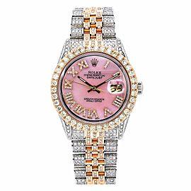 Rolex Datejust 1601 36MM Pink Diamond Dial With 8.75 CT Diamonds