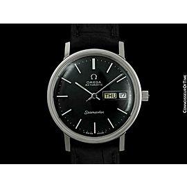 1976 OMEGA SEAMASTER Mens Automatic Day & Date SS Steel Watch - Mint w/ Warranty
