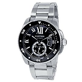 Cartier Calibre de Cartier Stainless Steel Automatic Black Men's Watch W7100057