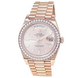 Rolex Day-Date 18k Rose Gold President Automatic Sundust Men's Watch 228345RBR