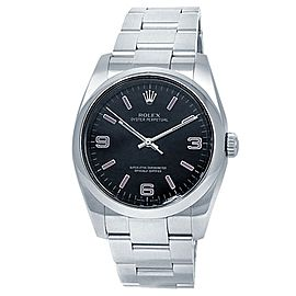 Rolex Oyster Perpetual Stainless Steel Oyster Automatic Black Men's Watch 116000