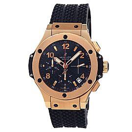 Hublot Big Bang 18k Rose Gold Black Rubber Auto Black Men's Watch 341.PX.130.RX