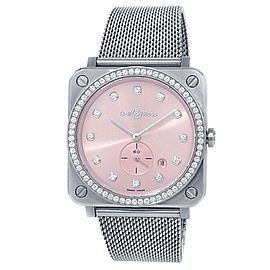 Bell & Ross BR S Novarosa Stainless Steel Quartz Pink Ladies Watch BRS-PK-ST-LGD