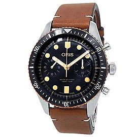 Oris Divers Sixty-Five Chronograph Stainless Steel Black Watch 01 771 7744 4354