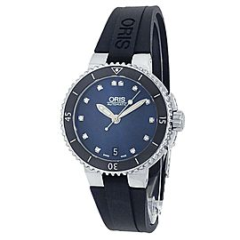 Oris Aquis Date Stainless Steel Rubber Auto Blue Men's Watch 01 733 7652 4195