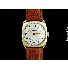 1930's ROLEX Art Deco Vintage Mens 9K Rose Gold Early Shock Resistant - Warranty