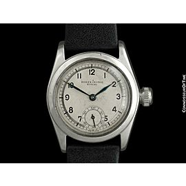 1939 ROLEX Rare Early Oyster Vintage Mens SS Steel Sector Dial Watch - Original