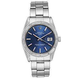 Rolex Date Blue Sigma Dial Vintage Steel Mens Watch 1501