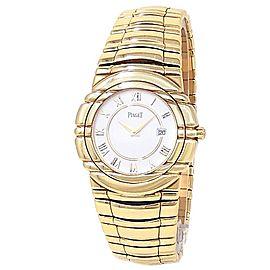Piaget Tanagra 18k Yellow Gold Quartz White Ladies Watch 17041 M 401 D
