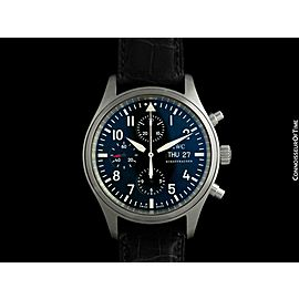 IWC Fliegeruhr Pilot's Automatic Chronograph Stainless Steel Watch - with B & P