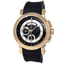 Breguet Marine Chronograph 18k Rose Gold Rubber Black Men's Watch 5827BR/Z2/5ZU