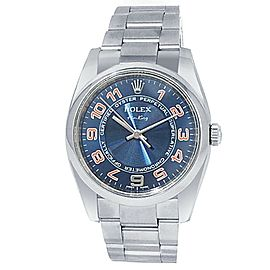 Rolex Oyster Perpetual Air-King Stainless Steel Oyster Blue Men's Watch 114200