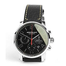 MONTBLANC TIMEWALKER STEEL 43 mm AUTOMATIC CHRONOGRAPH WATCH 107572 NEW