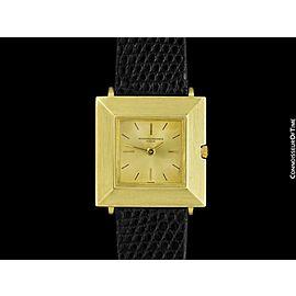 "1961 VACHERON & CONSTANTIN Vintage ""Extra-FLat"" Modernist Mens Watch - 18K GOLD"