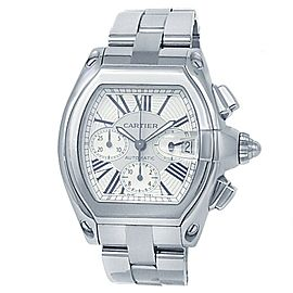 Cartier Roadster XL Stainless Steel Automatic Silver Men's Watch W62019X6