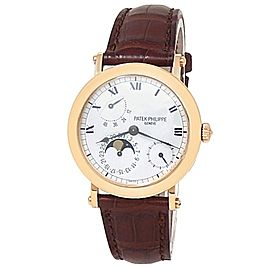 Patek Philippe Complications Power Reserve 18k Rose Gold White Men's Watch 5054