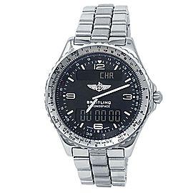 Breitling Chronospace Stainless Steel Quartz Black Men's Watch A56012.1