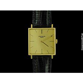 1966 PATEK PHILIPPE Vintage Mens 18K Gold Ultra Thin Watch
