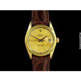 1985 ROLEX DATE Ref. 15505 Mens 14K & SS Gold Shell - Minty