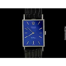 1969 ROLEX CELLINI Vintage Mens 18K White Gold Watch