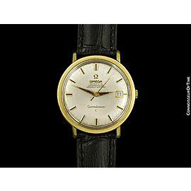 1966 OMEGA Vintage Mens Constellation 14K Gold Cap Watch