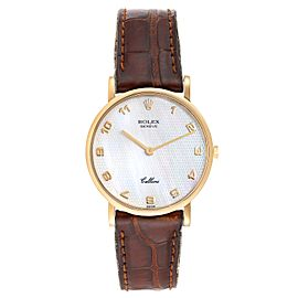Rolex Cellini Classic Yellow Gold Mother Of Pearl Unisex Watch 5112